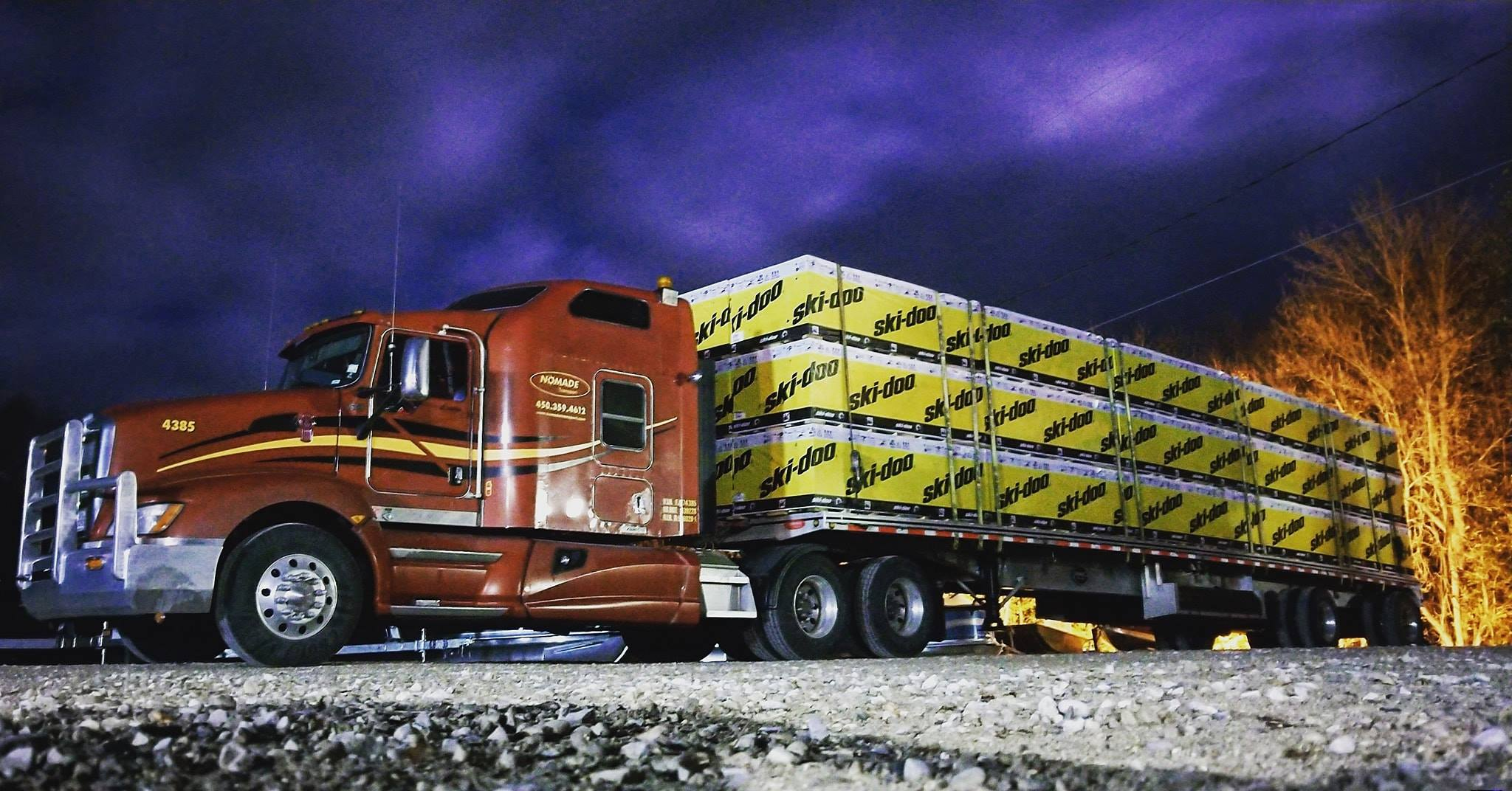 Satellite tracked trucks