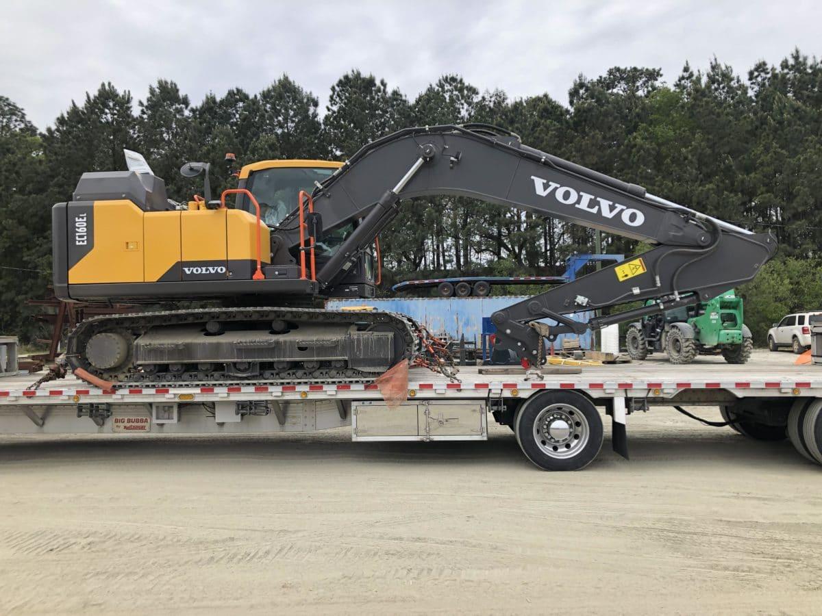 Crawler Excavator Transport by Truck