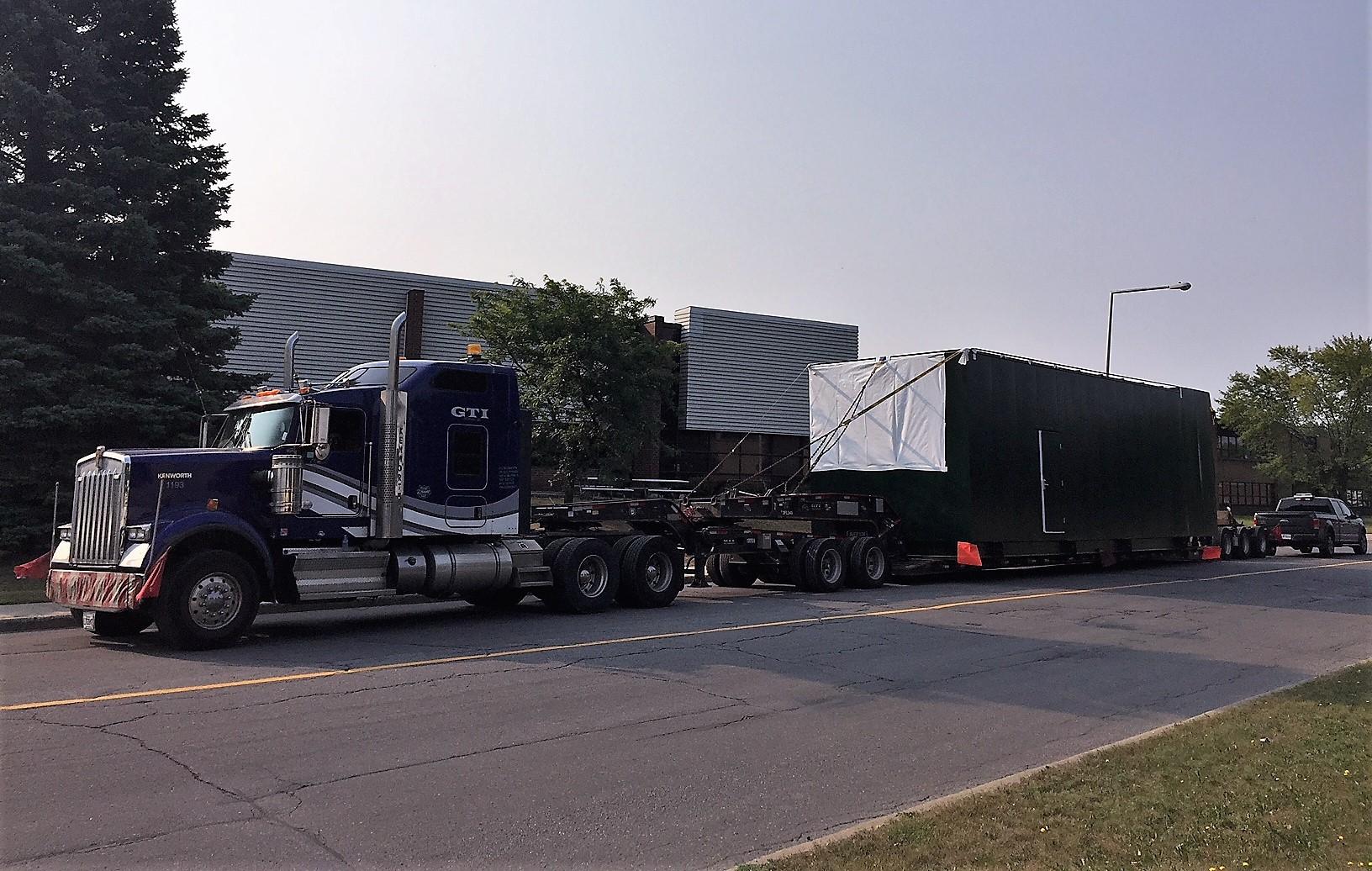 Generator truck transport