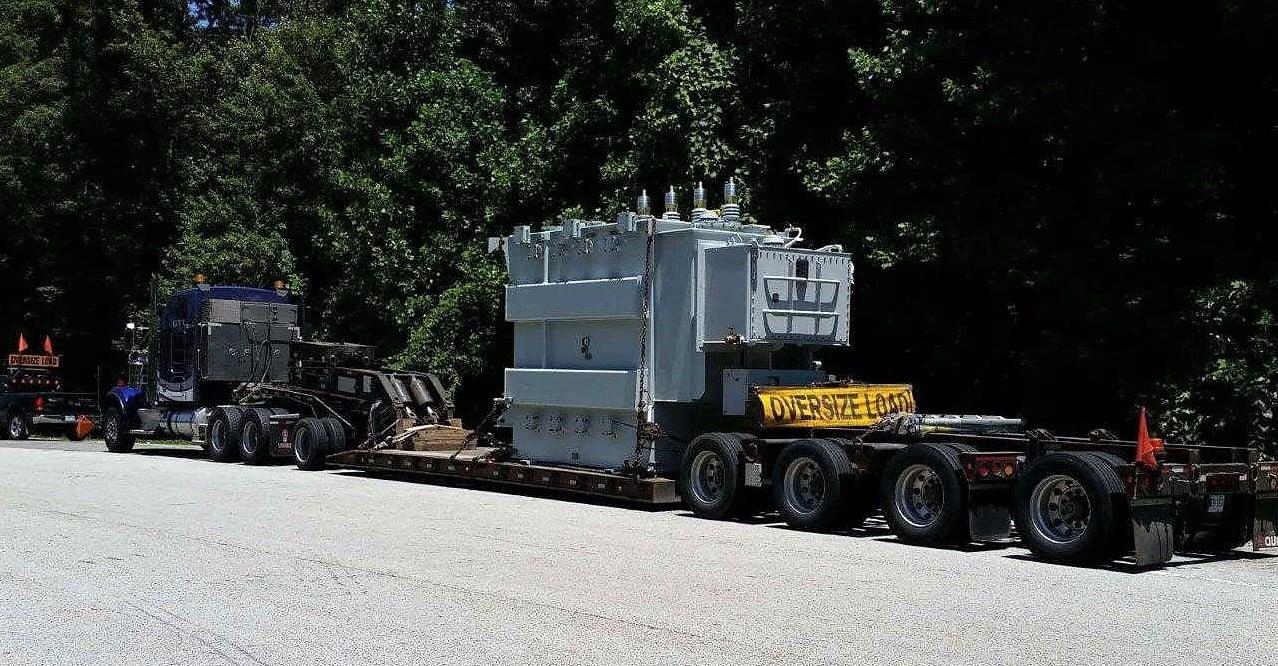 75 000 lbs transformer transport by truck
